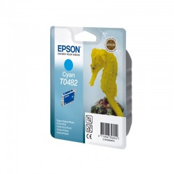 """EPSON Cartouche """"Hippocampe"""" T0482 Encre QuickDry Cyan 13ml"""