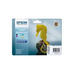 "EPSON Multipack ""Hippocampe"" T0487 - Encres N, C, Cc, M, Mc, J 78ml"