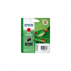 "EPSON Cartouche ""Grenouille"" T0547 Encre UltraChrome Hi-Gloss Rouge 13ml"