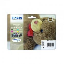 """EPSON Multipack """"Ourson"""" T0615 Encres DURABrite Ultra N, C, M, J 32ml"""