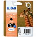 """EPSON Double pack """"Girafe"""" T0711H Encre DURABrite Noir HC 22,2ml"""