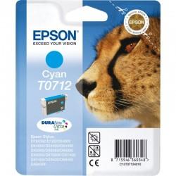 """EPSON Cartouche """"Guépard"""" T0712 Encre DURABrite Ultra Cyan 5,5ml"""