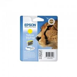 "EPSON Cartouche ""Guépard"" T0714 Encre DURABrite Ultra Jaune 5,5ml"