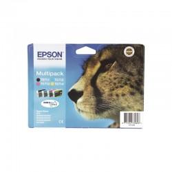 """EPSON Multipack """"Guépard"""" T0715 Encres DURABrite Ultra N,C,M,J 23,9ml"""