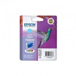 """EPSON Cartouche """"Colibri"""" T0805 Encre Claria Cyan clair 7,4ml"""