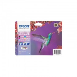 """EPSON Multipack """"Colibri"""" T0807 - Encres Claria N,C,M,J,Cc,Mc 44,4ml"""