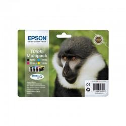 """EPSON Multipack """"Singe"""" T0895 Encre Ultra N,C,M,J 16,3ml"""