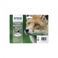 "EPSON Multipack ""Renard"" T1285 - Encre DURABrite Ultra N,C,M,J 16,4ml"