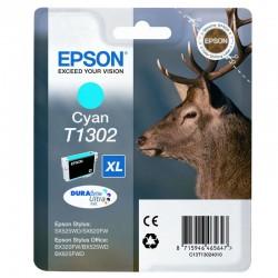 "EPSON Cartouche ""Cerf"" T1302 Encre DURABrite Ultra Cyan XL 10,1ml"
