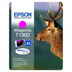 """EPSON Cartouche """"Cerf"""" T1303 Encre DURABrite Ultra Magenta XL 10,1ml"""