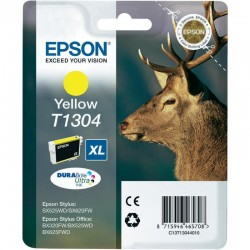 """EPSON Cartouche """"Cerf"""" T1304 Encre DURABrite Ultra Jaune XL 10,1ml"""