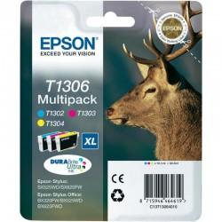 "EPSON Multipack ""Cerf"" T1306 Encre DURABrite Ultra C,M,J (XL) 30,3ml"