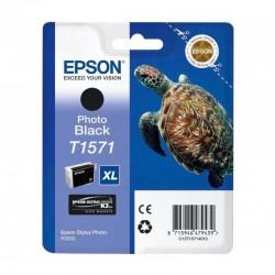"""EPSON Cartouche """"Tortue"""" T1571 Encre UC K3 VM Noir 25,9ml"""