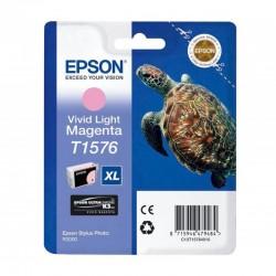 "EPSON Cartouche ""Tortue"" T1576 Encre UC K3 VM Magenta clair 25,9ml"