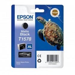 "EPSON Cartouche ""Tortue"" T1578 Encre UC K3 VM Noir mat 25,9ml"