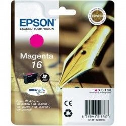 "EPSON Cartouche ""Stylo à plume"" 16 Encre Durabrite Magenta 3,1ml"