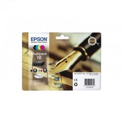"""EPSON Cartouche Multipack """"Stylo à plume"""" 16 Encre N,C,M,J 14,7ml"""