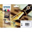 """EPSON Cartouche Multipack """"Stylo à plume""""16XL Encre N,C,M,J XL 32,4ml"""