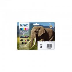 """EPSON Multipack """"Eléphant"""" 24 Encres Claria Photo HD N,C,M,J,Cc,Mc 29,1ml"""