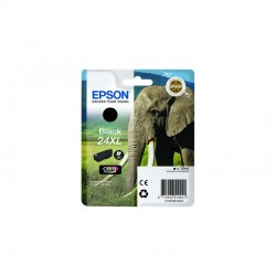 "EPSON Cartouche ""Eléphant"" 24XL Encre Claria Photo HD Noir 10ml"