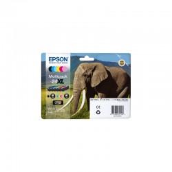 """EPSON Multipack """"Eléphant""""24XL Encres Claria P HD N,C,M,J,Cc,Mc 55,7ml"""