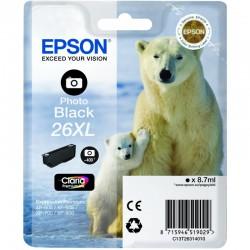 "EPSON Cartouche ""Ours Polaire""26XL Encre Claria Premium Noir Ph 8,7ml"