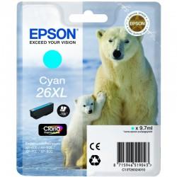 "EPSON Cartouche ""Ours Polaire"" 26XL Encre Claria Premium Cyan 9,7ml"