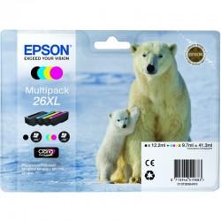 "EPSON Multipack ""Ours Polaire"" 26XL Encres Claria Premium N,C,M,J 41,3ml"