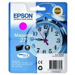 "EPSON Cartouche ""Réveil"" 27 Encre Durabrite Magenta 3,6ml"