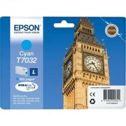 """EPSON Cartouche encre """"Big Ben"""" T7032 Cyan L 800 pages"""