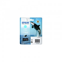 EPSON Cartouche Orque T7605 encre Cyan Clair 25,9ml