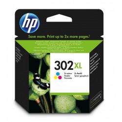 HP 302XL Cartouche d'encre Trois couleurs (Cyan,Magenta,Jaune) authentique grande capacité (F6U67AE)