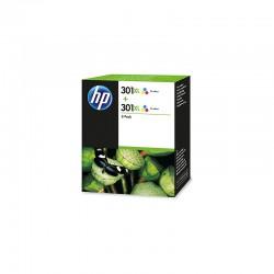 HP 301XL Couleurs - Pack 2 cartouches d'encre 2x330 pages