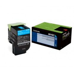 LEXMARK Cartouche Toner 802SC Cyan 2 000 pages