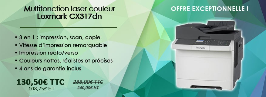 Lexmark CX317dn Multifonction laser à prix très bas