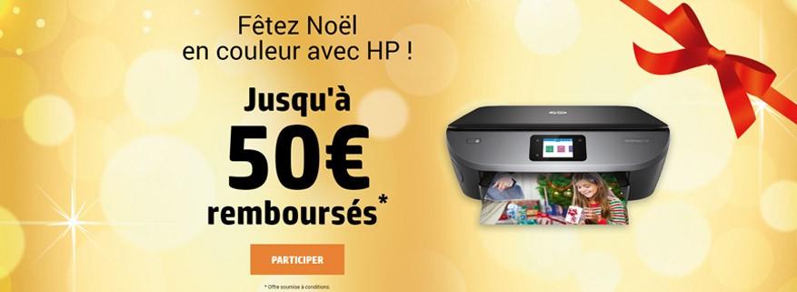 Jusqu'à 50€ remboursés sur les multifonctions HP !