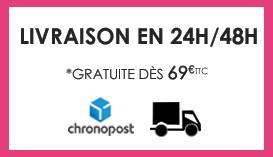 Livraison en 24h à 48h et gratuite dès 69€ d'achats